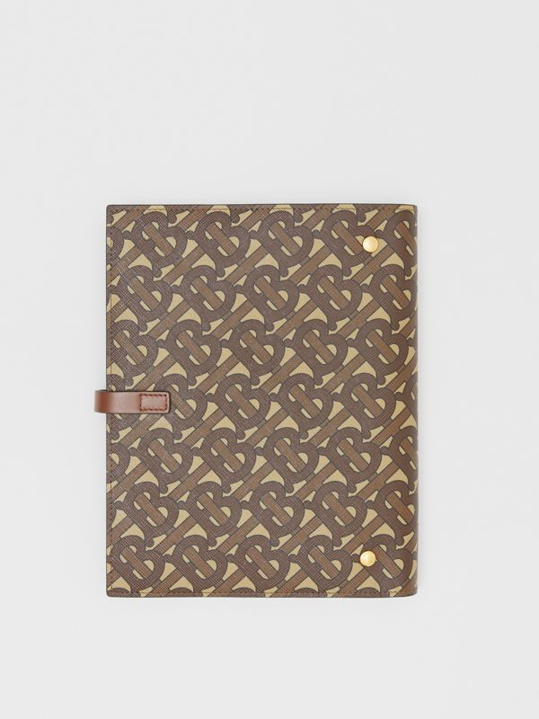 Monogram Print E-canvas Notebook Cover in Bridle Brown | Burberry - cell image 3