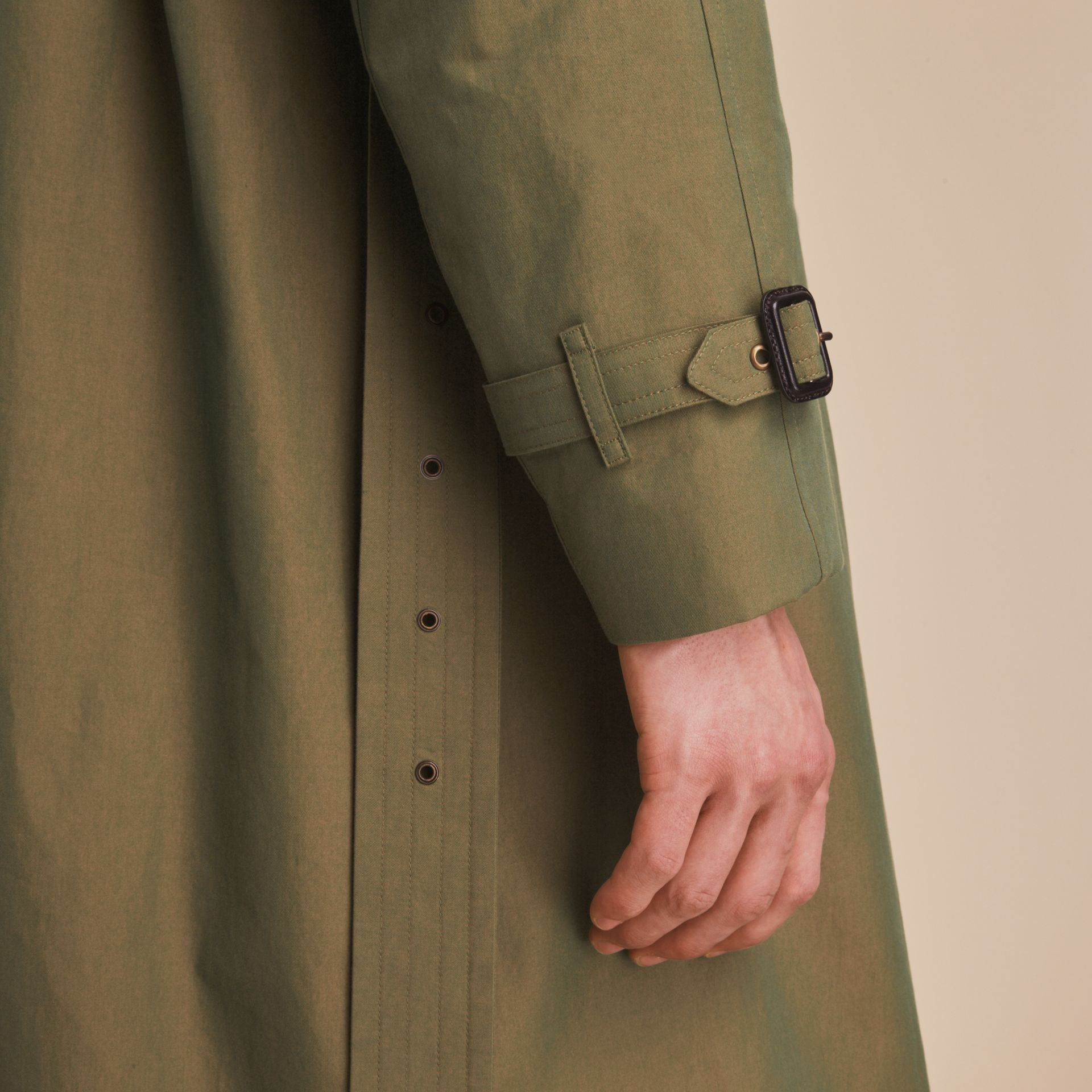 Oversize Storm Shield Tropical Gabardine Trench Coat - gallery image 7