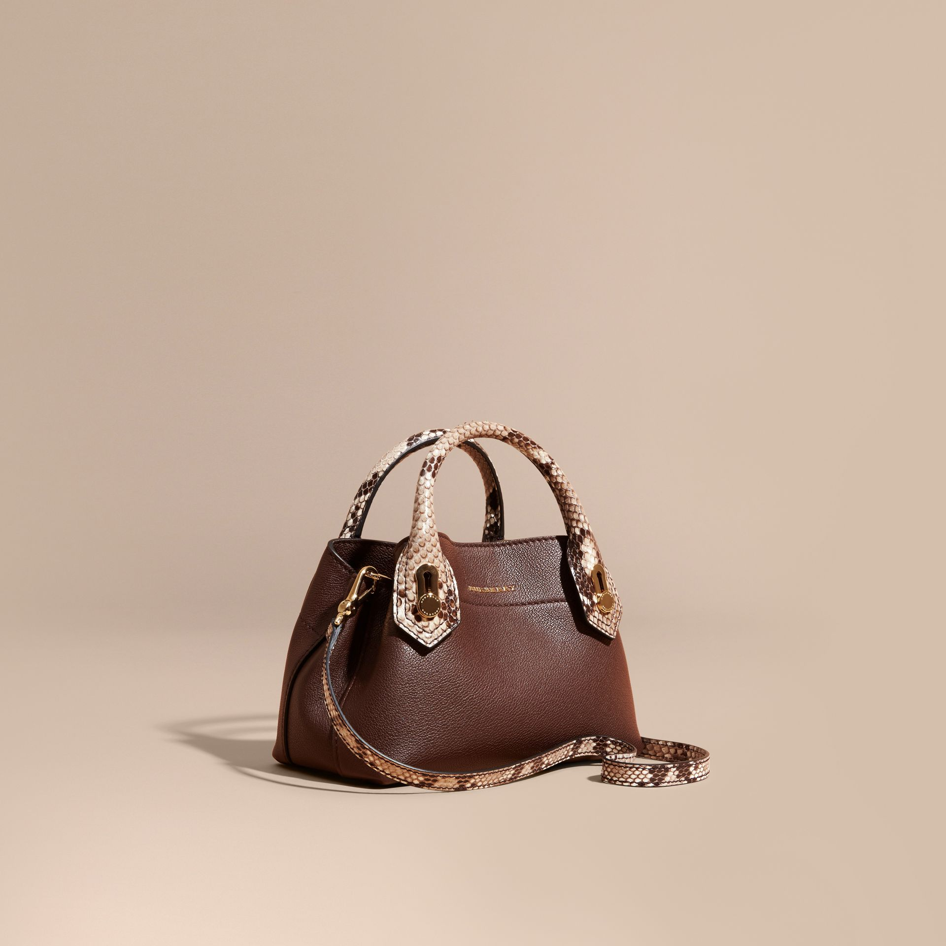Sac The Baby Milton en cuir et python - photo de la galerie 1