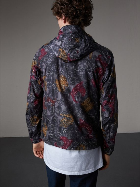 Beasts Print Super-lightweight Hooded Jacket - Men | Burberry - cell image 2