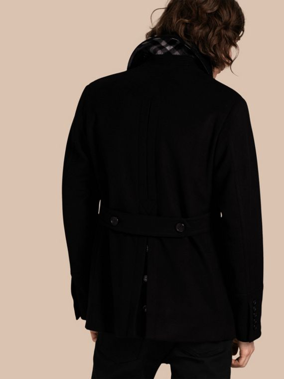 Nero Pea coat in lana e cashmere Nero - cell image 2