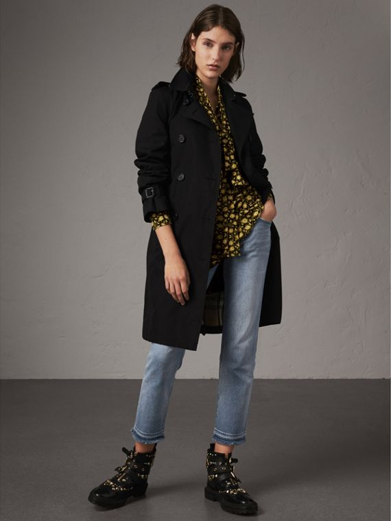 Trench coat Kensington – Trench coat Heritage largo (Negro)