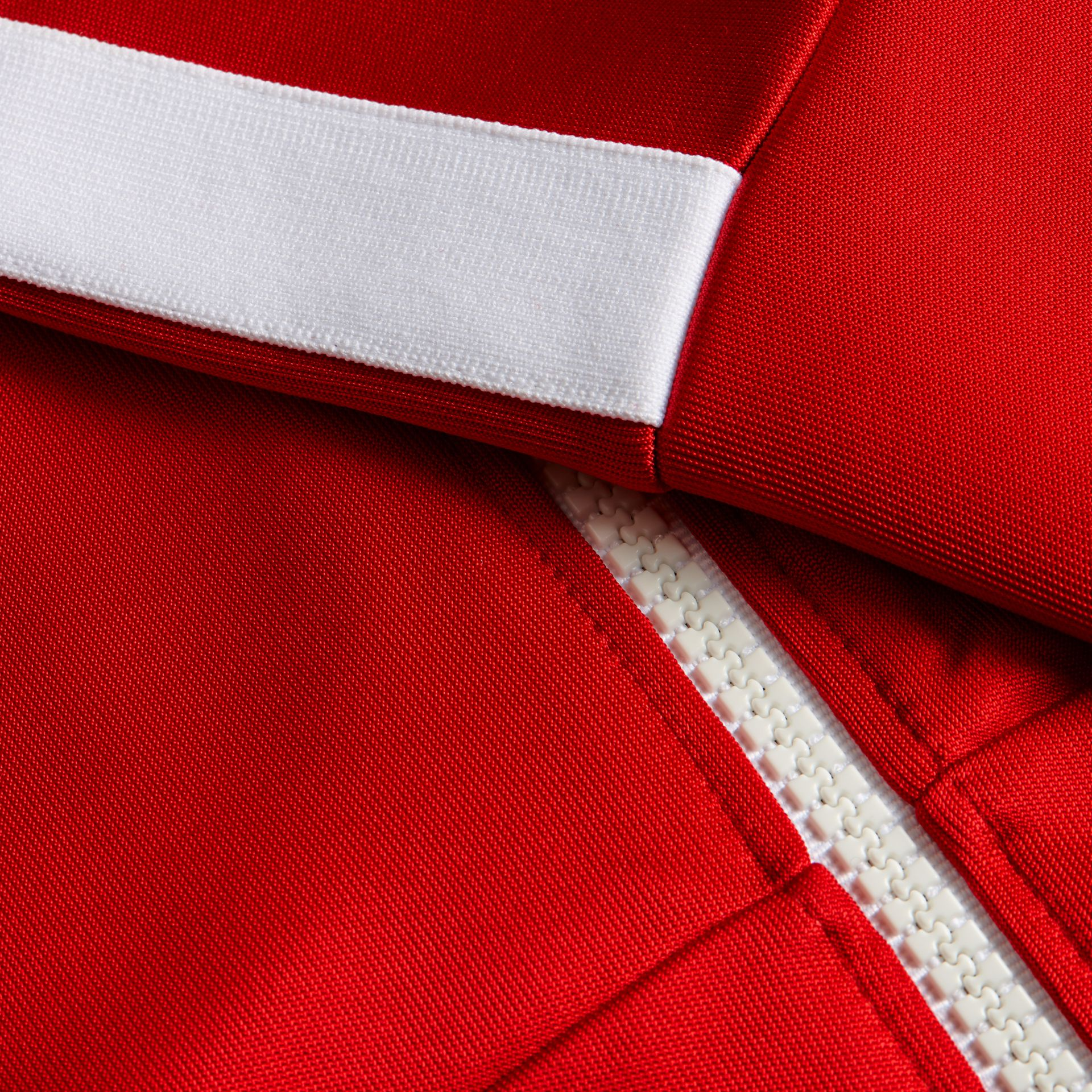 Cranberry red Stripe Detail Zip Front Jacket Cranberry Red - gallery image 2