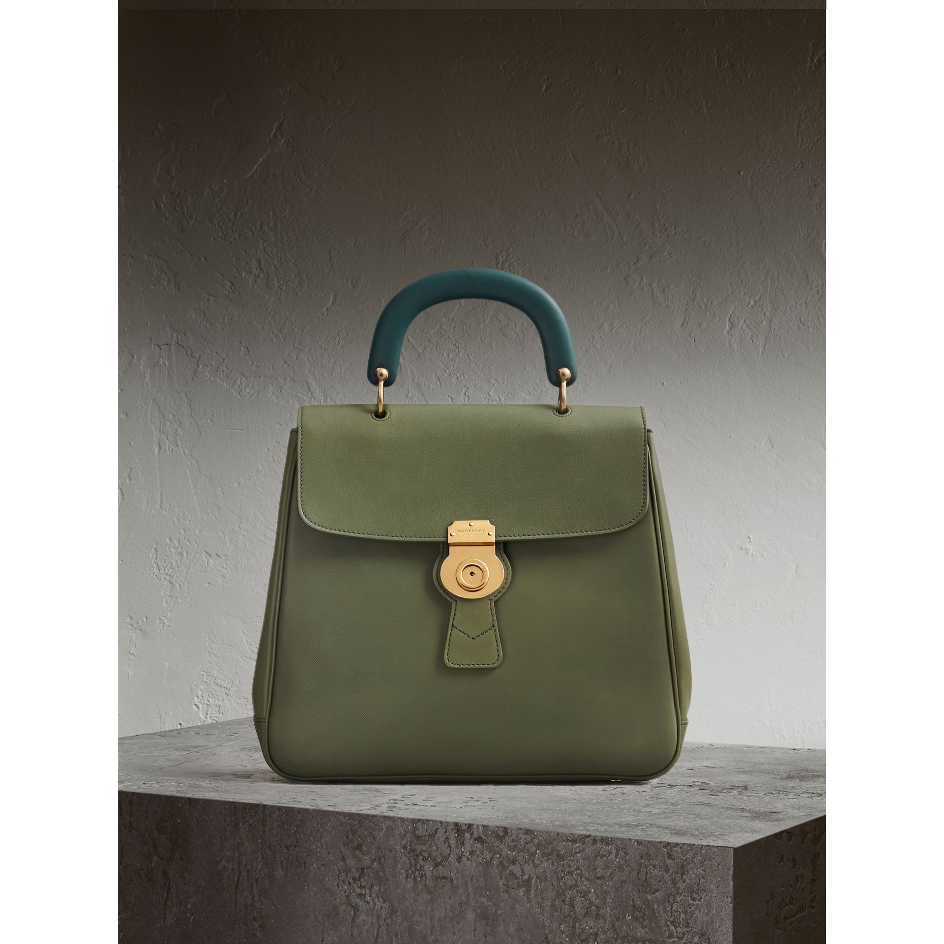 The Large DK88 Top Handle Bag Moss Green - gallery image 1