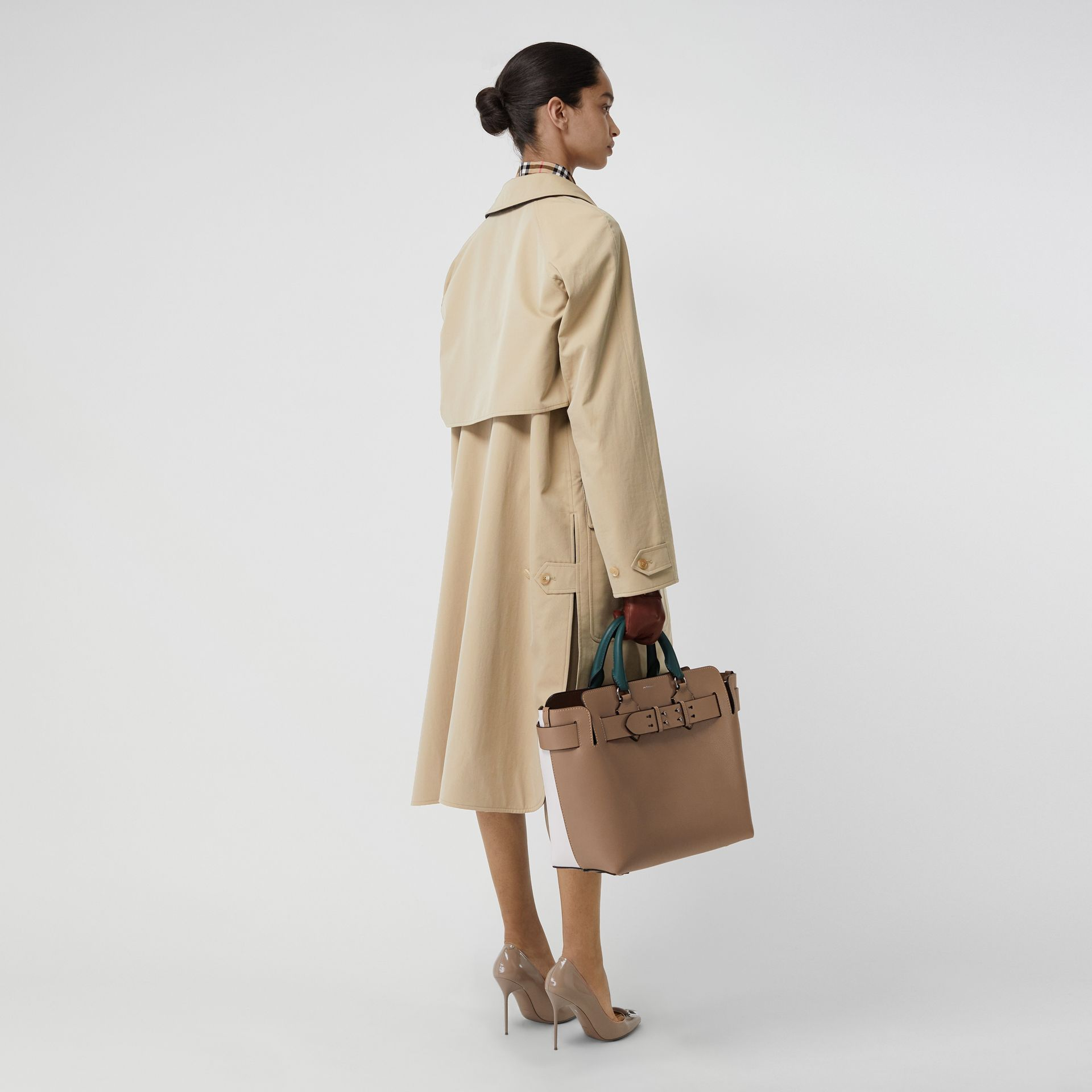 Wool-lined Tropical Gabardine Car Coat in Honey - Women | Burberry - gallery image 2