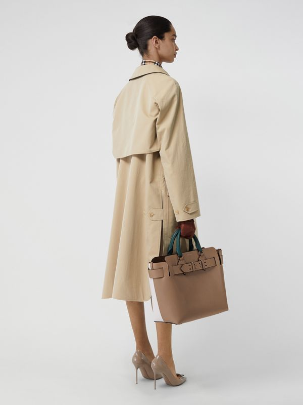 Wool-lined Tropical Gabardine Car Coat in Honey - Women | Burberry Canada - cell image 2