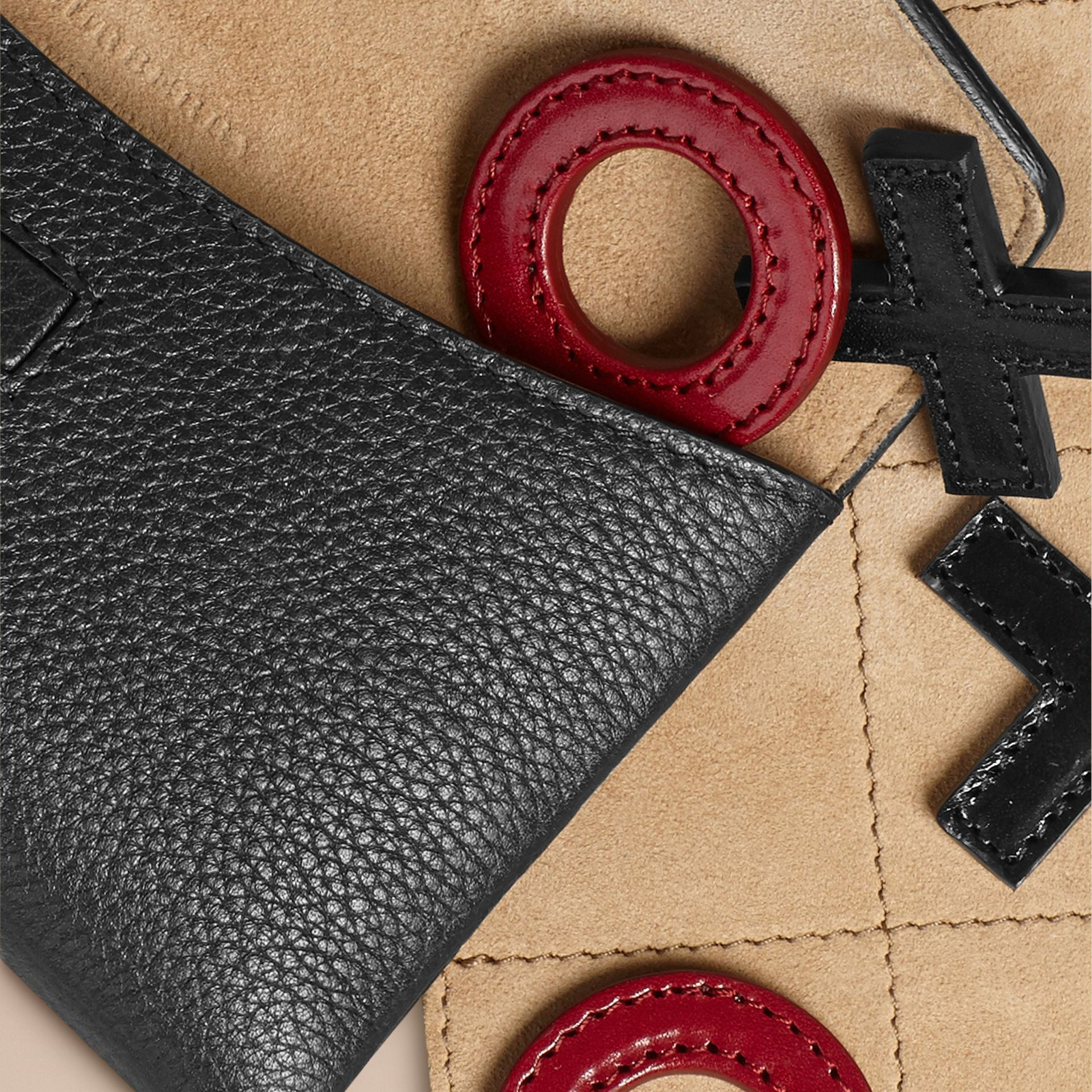 Leather Noughts and Crosses Set and Case in Black | Burberry - gallery image 2