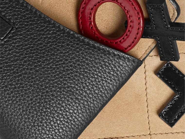 Leather Noughts and Crosses Set and Case in Black | Burberry - cell image 1