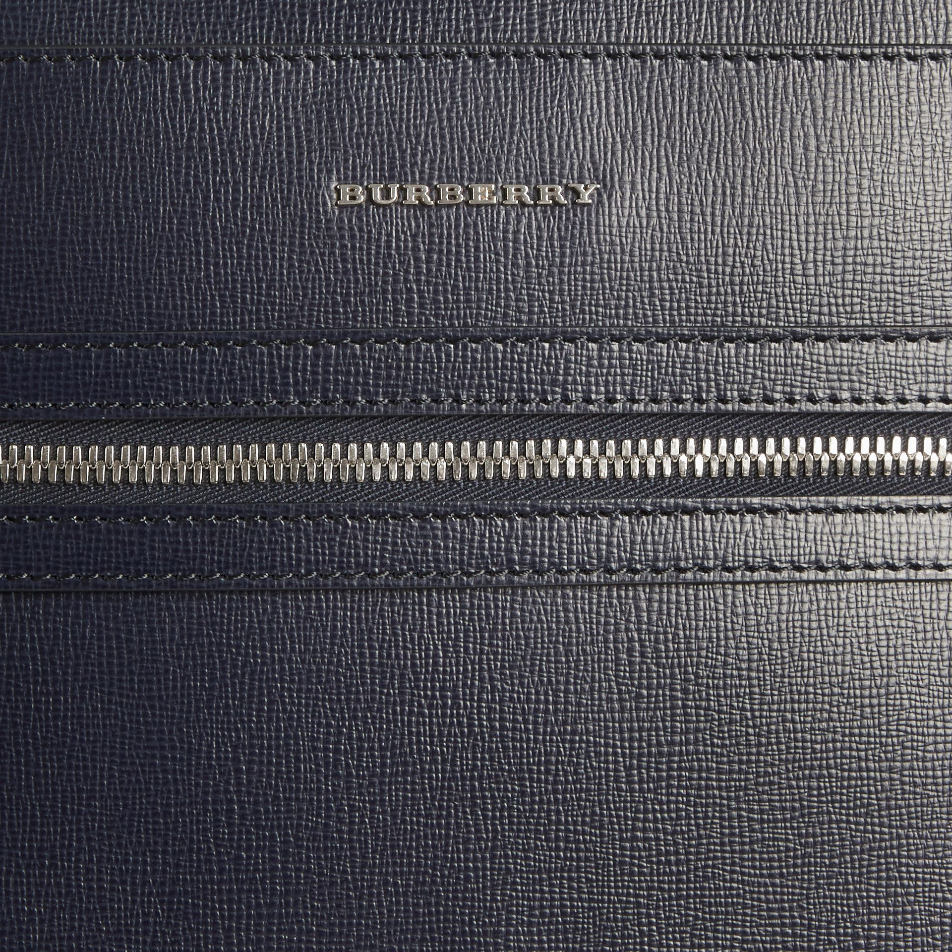 Dark navy London Leather Backpack Dark Navy - gallery image 5
