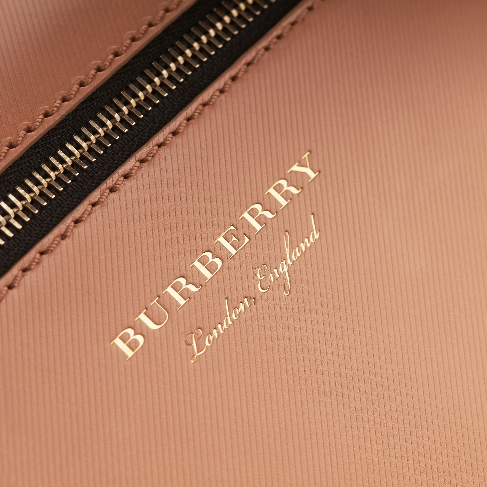 The Small DK88 Satchel with Alligator in Pale Clementine - Men | Burberry - gallery image 4