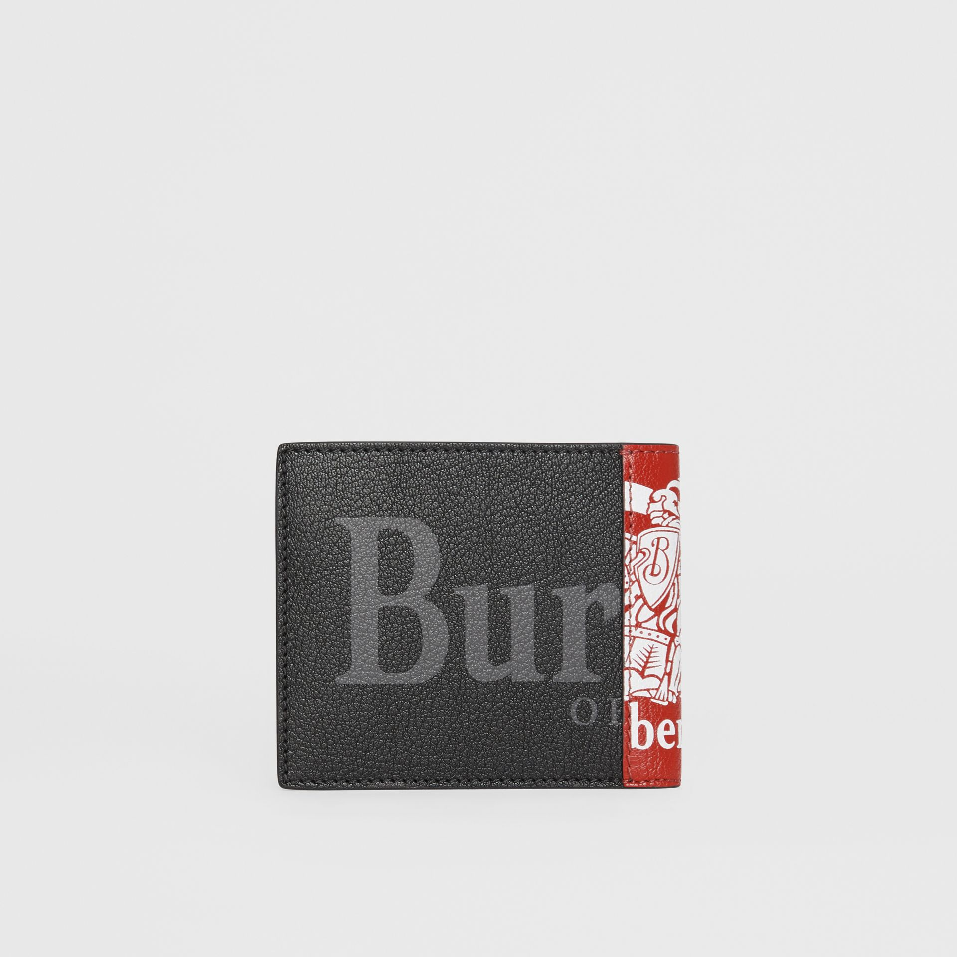 Contrast Logo Leather International Bifold Wallet in Rust Red/black - Men | Burberry - gallery image 4