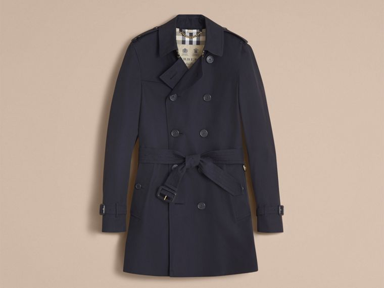 Navy The Chelsea – Mid-length Heritage Trench Coat Navy - cell image 4
