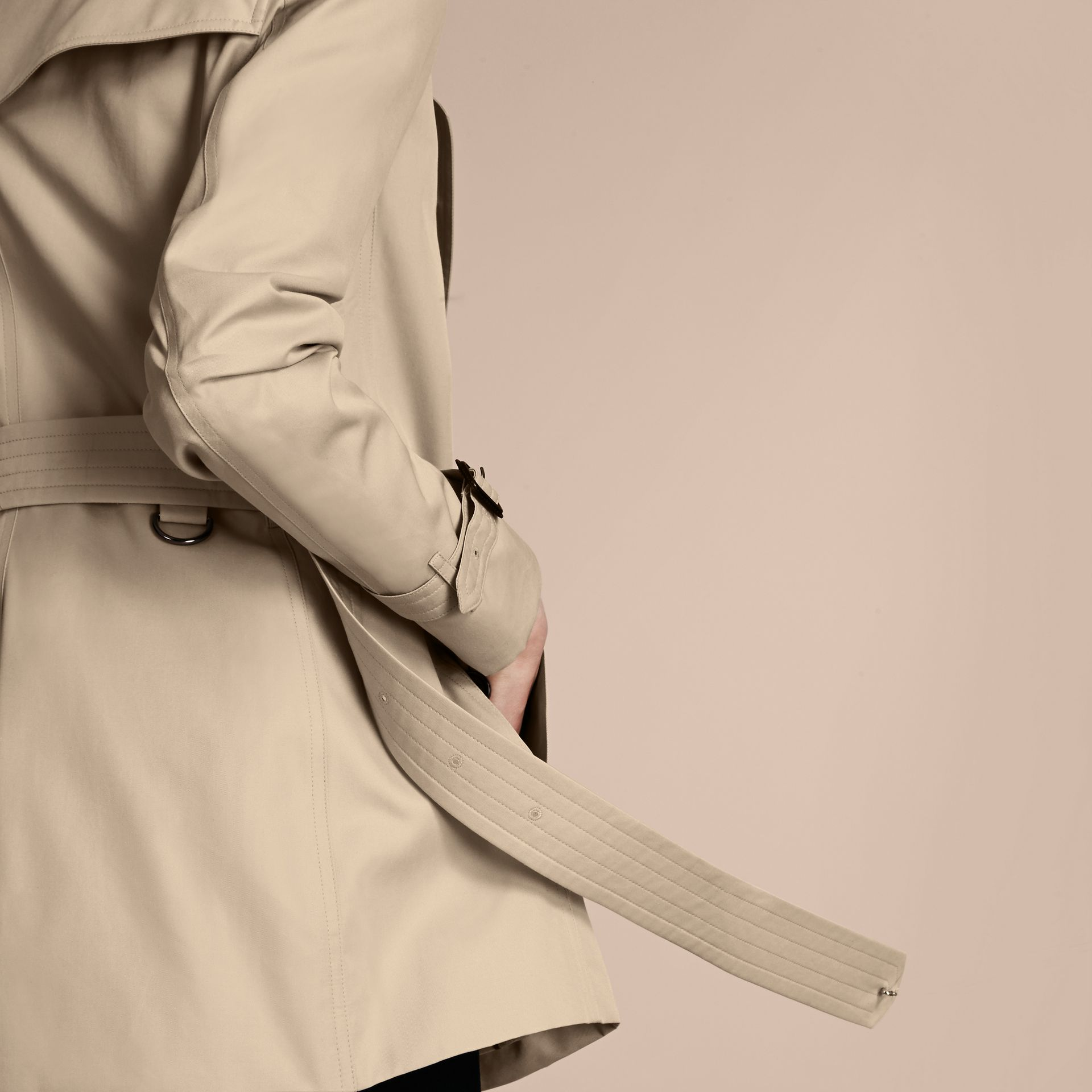 Stone The Kensington – Mid-Length Heritage Trench Coat Stone - gallery image 7
