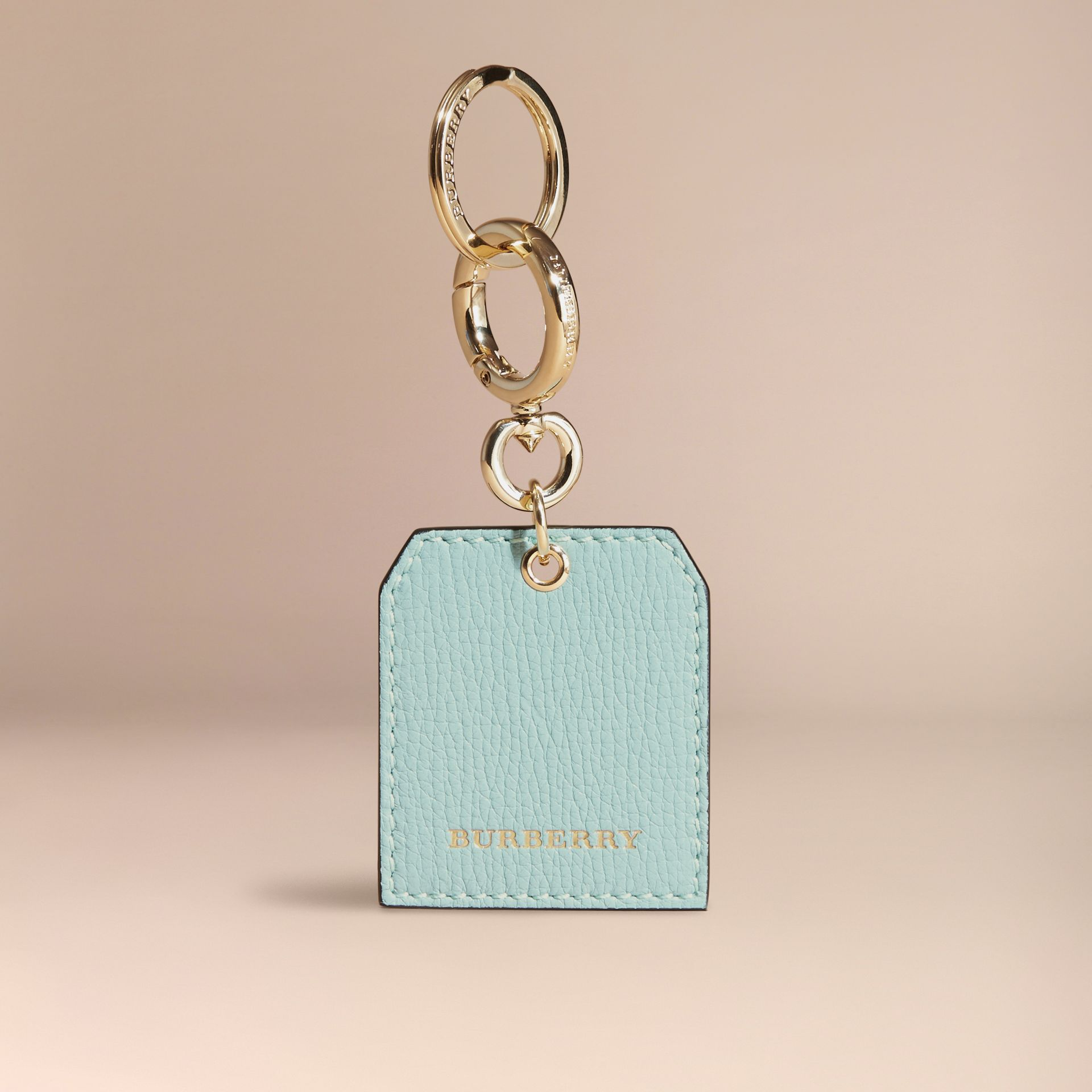Grainy Leather Key Charm in Pale Opal | Burberry - gallery image 5