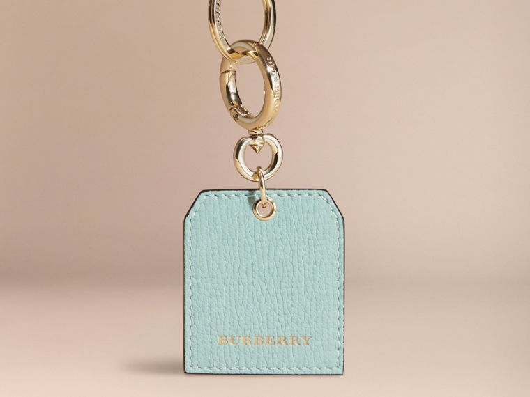 Grainy Leather Key Charm in Pale Opal - Women | Burberry - cell image 4