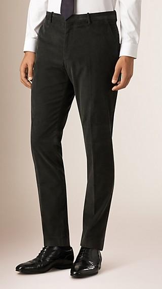 Slim Fit Corduroy Trousers