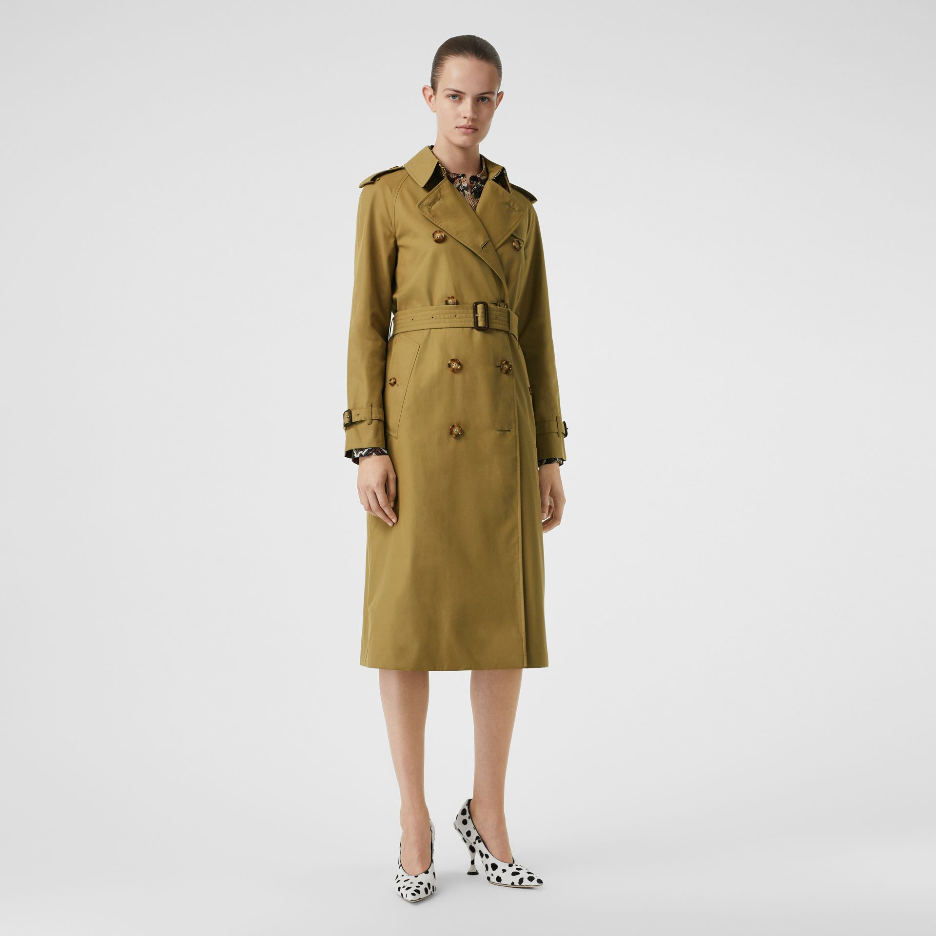 The Waterloo Trench Coat in Rich Olive - Women | Burberry United Kingdom - gallery image 0