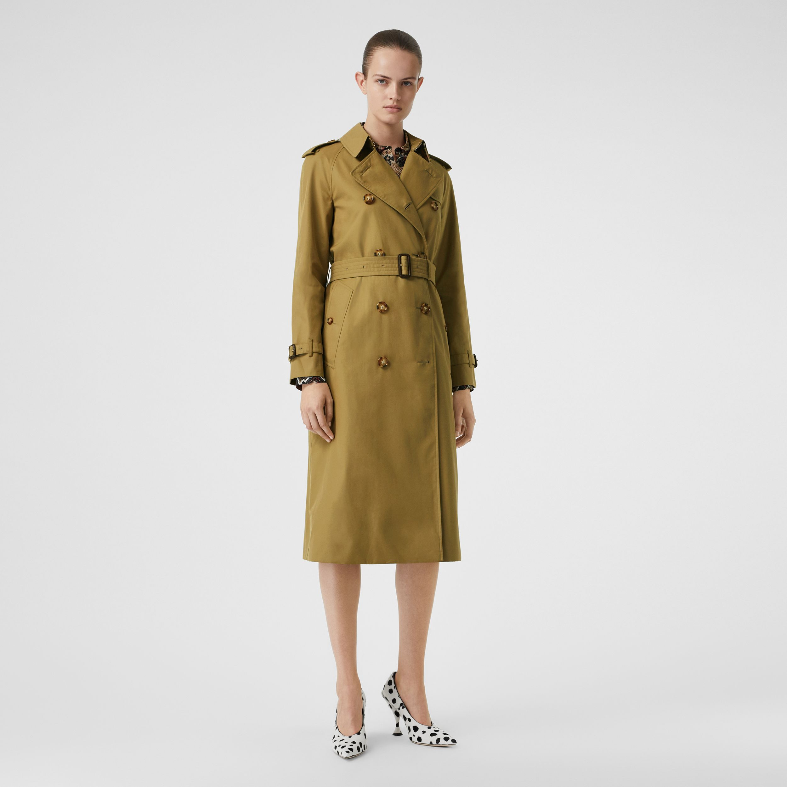 The Waterloo Trench Coat in Rich Olive - Women | Burberry - 1