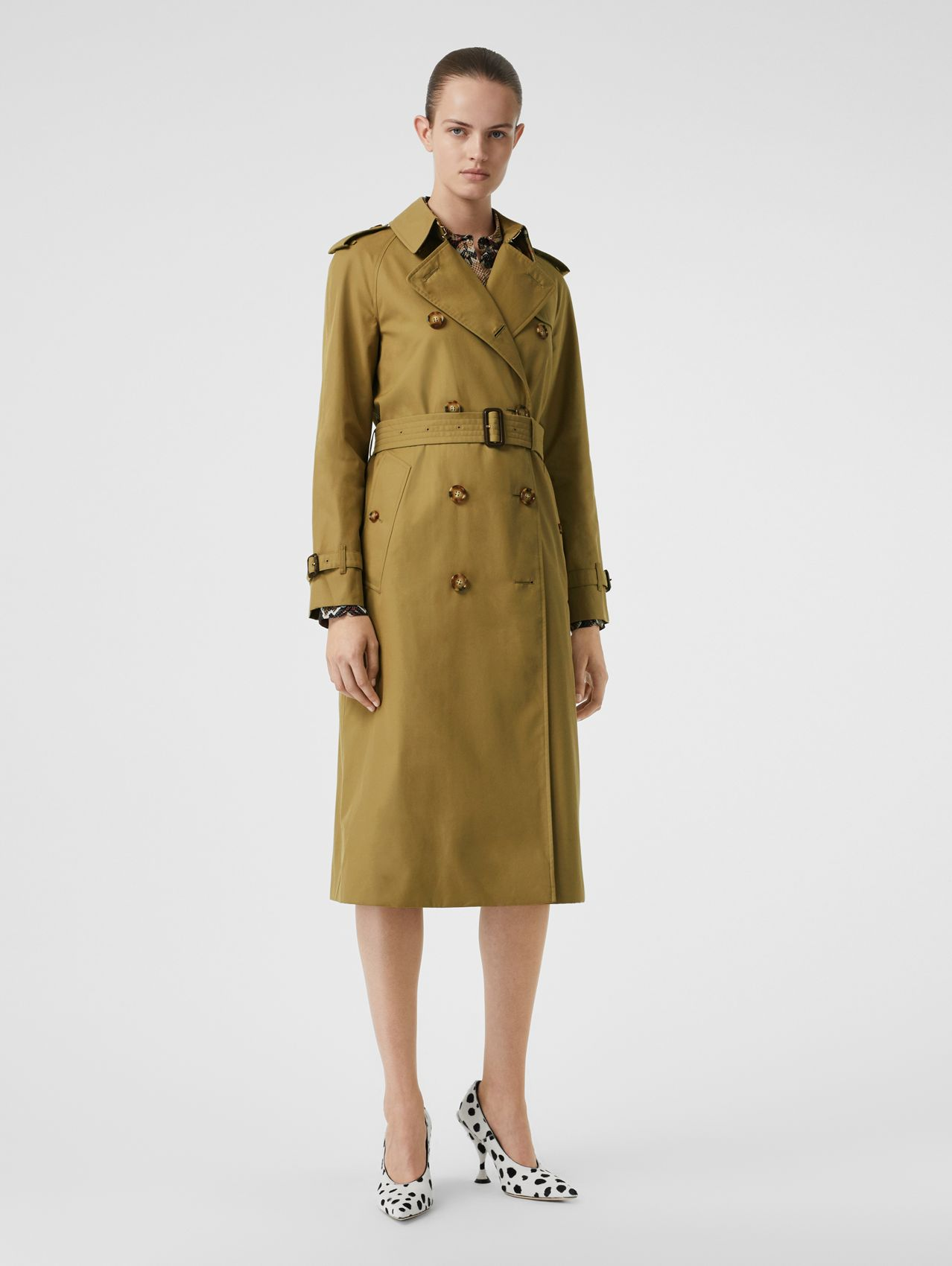 The Waterloo Trench Coat in Rich Olive