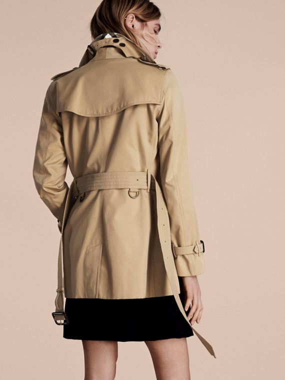 Honey The Kensington – Short Heritage Trench Coat Honey - cell image 2