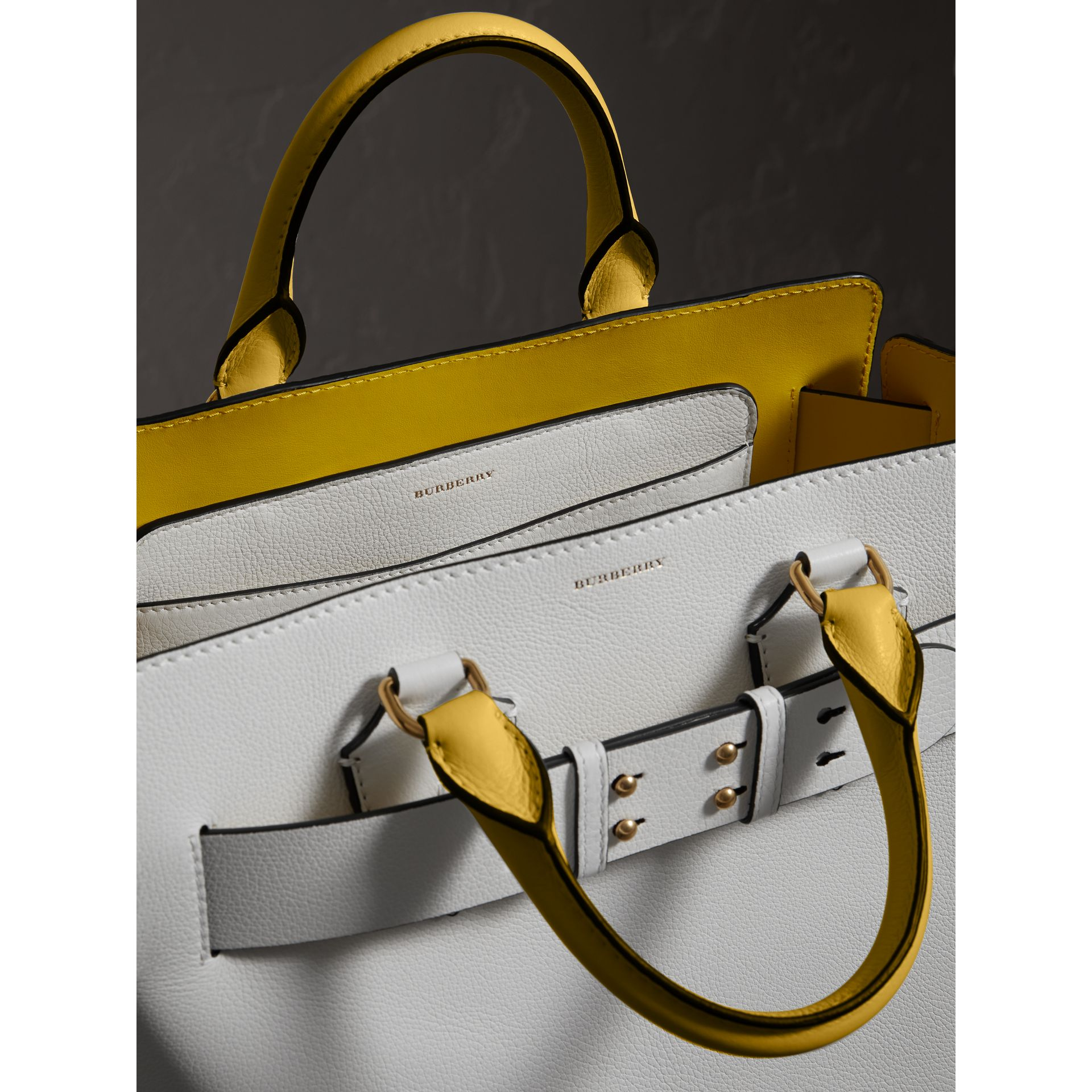 The Medium Leather Belt Bag in Chalk White/yellow - Women | Burberry - gallery image 3