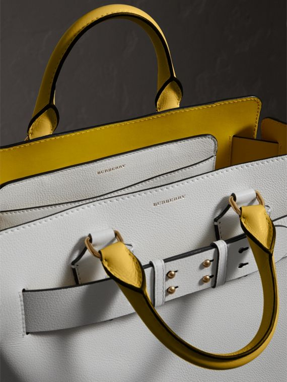 The Medium Leather Belt Bag in Chalk White/yellow - Women | Burberry United States - cell image 3