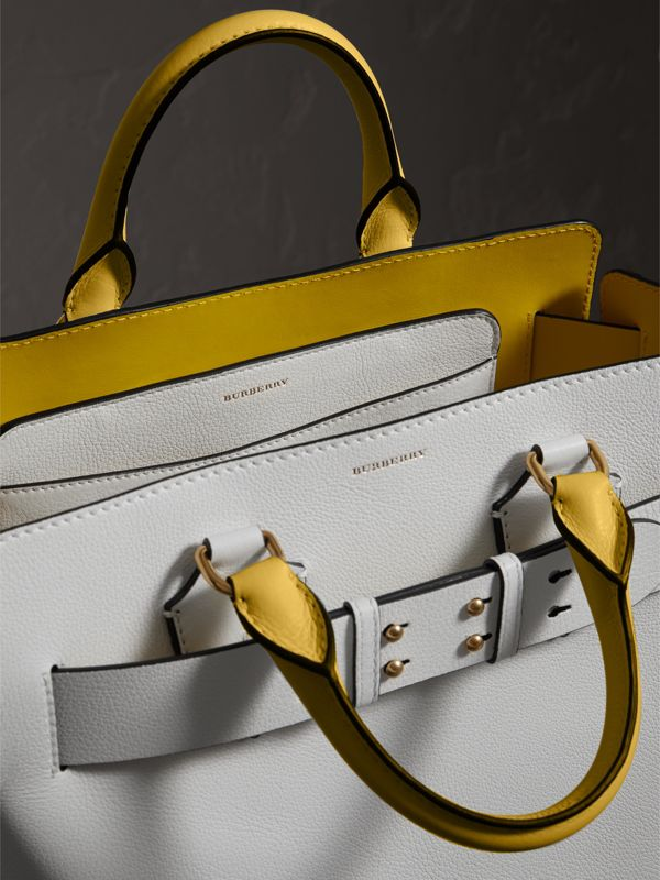 The Medium Leather Belt Bag in Chalk White/yellow - Women | Burberry - cell image 3