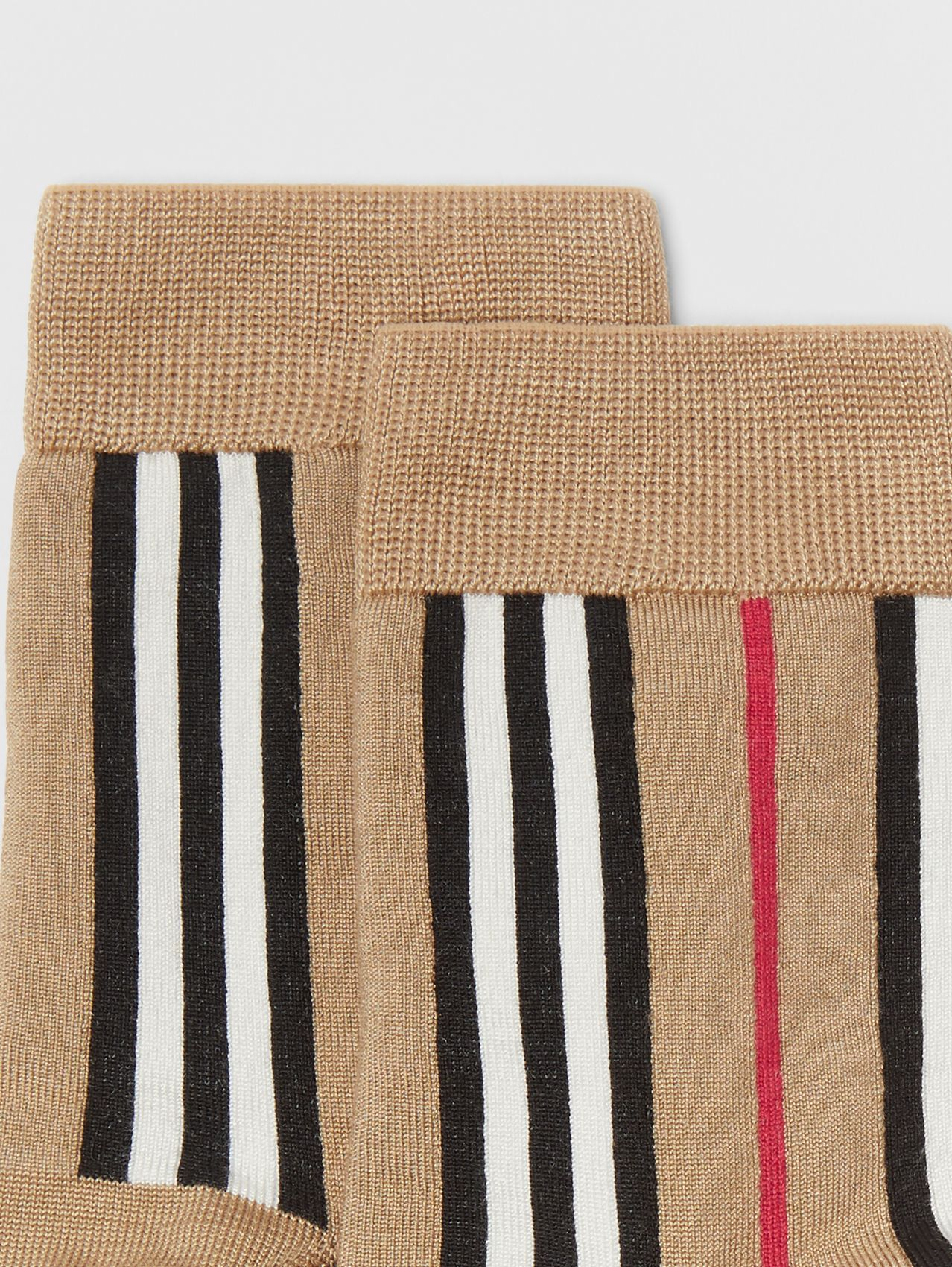 Icon Stripe Intarsia Ankle Socks (Archive Beige)