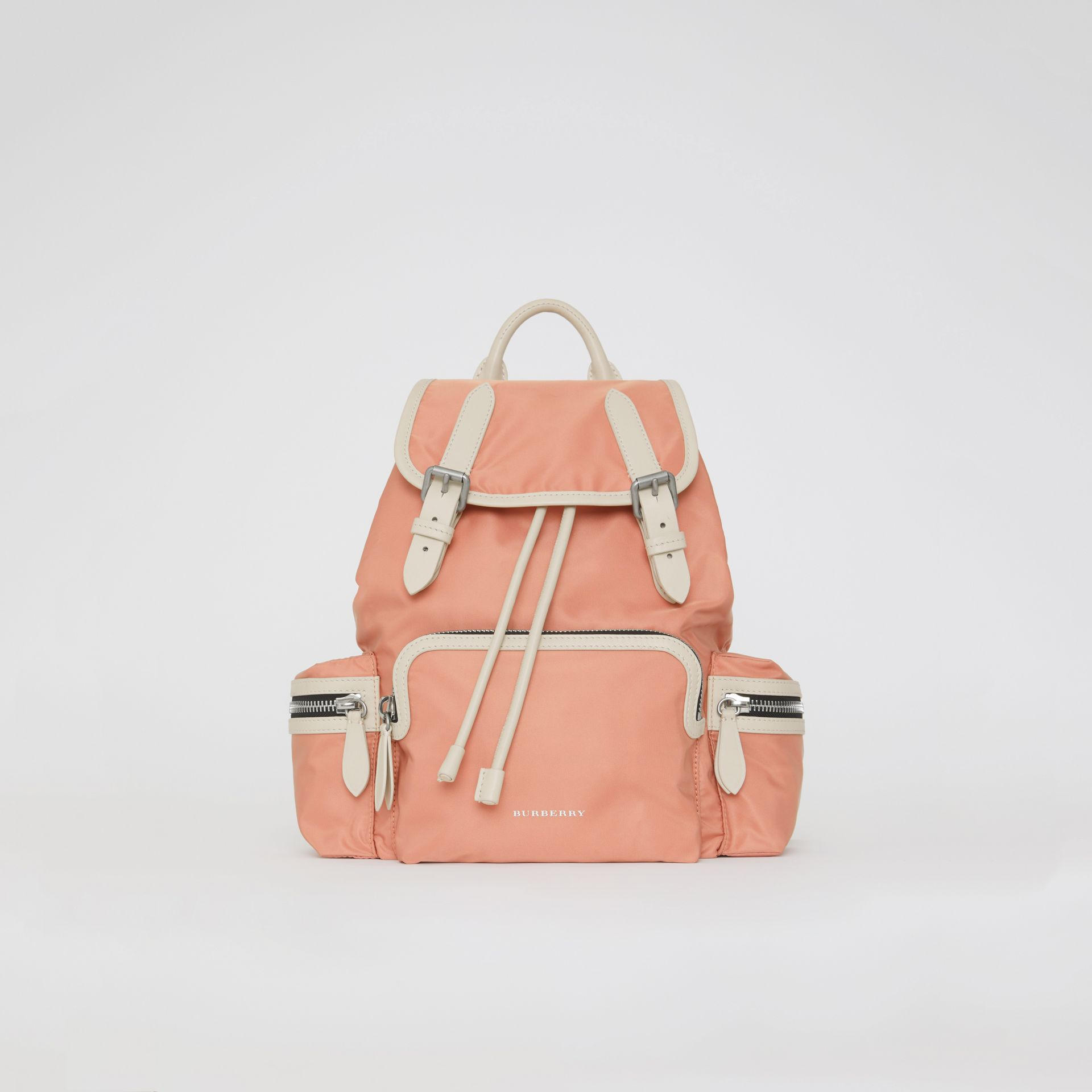 The Medium Rucksack in Technical Nylon and Leather in Pink - Women | Burberry United Kingdom - gallery image 0