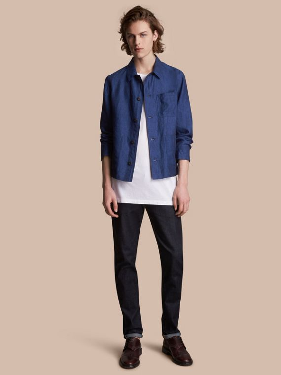 Linen Workwear Jacket - Men | Burberry Singapore