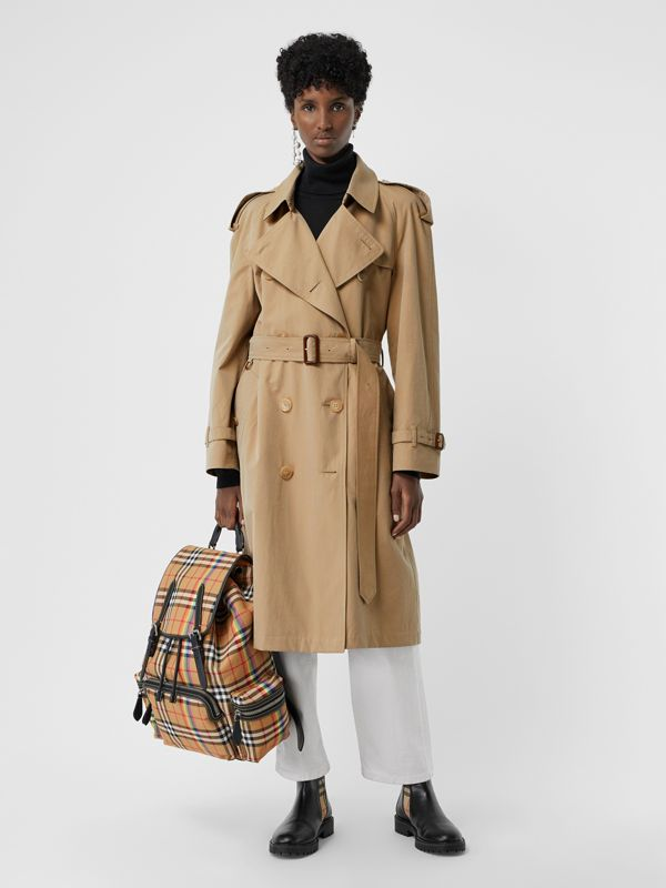 Zaino The Rucksack grande con motivo Rainbow vintage check (Giallo Antico) | Burberry - cell image 2