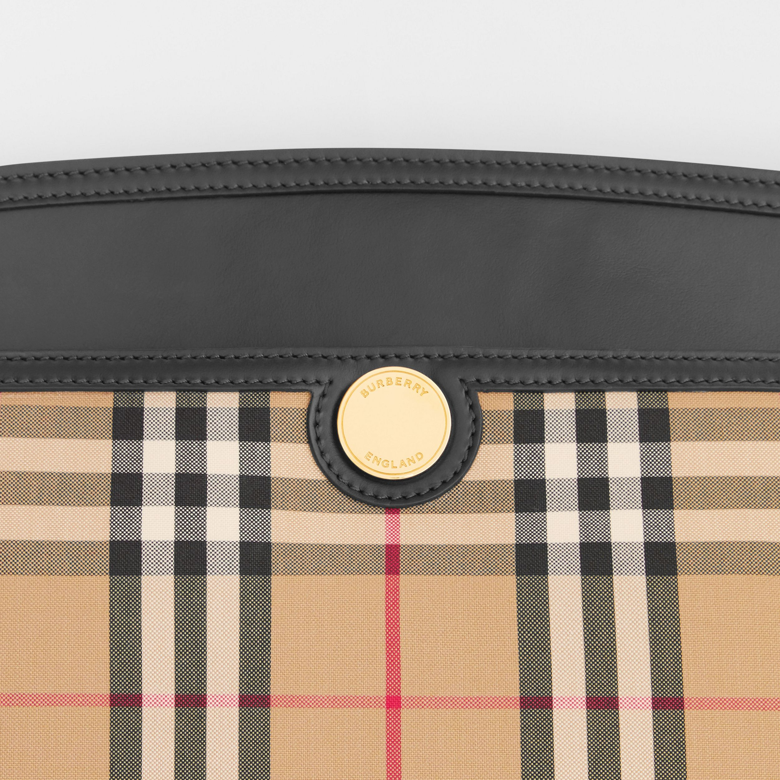 Vintage Check and Leather Society Clutch in Archive Beige - Women | Burberry Australia - 2
