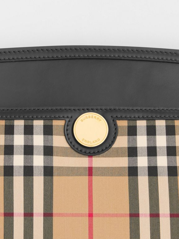 Vintage Check and Leather Society Clutch in Archive Beige - Women | Burberry - cell image 1