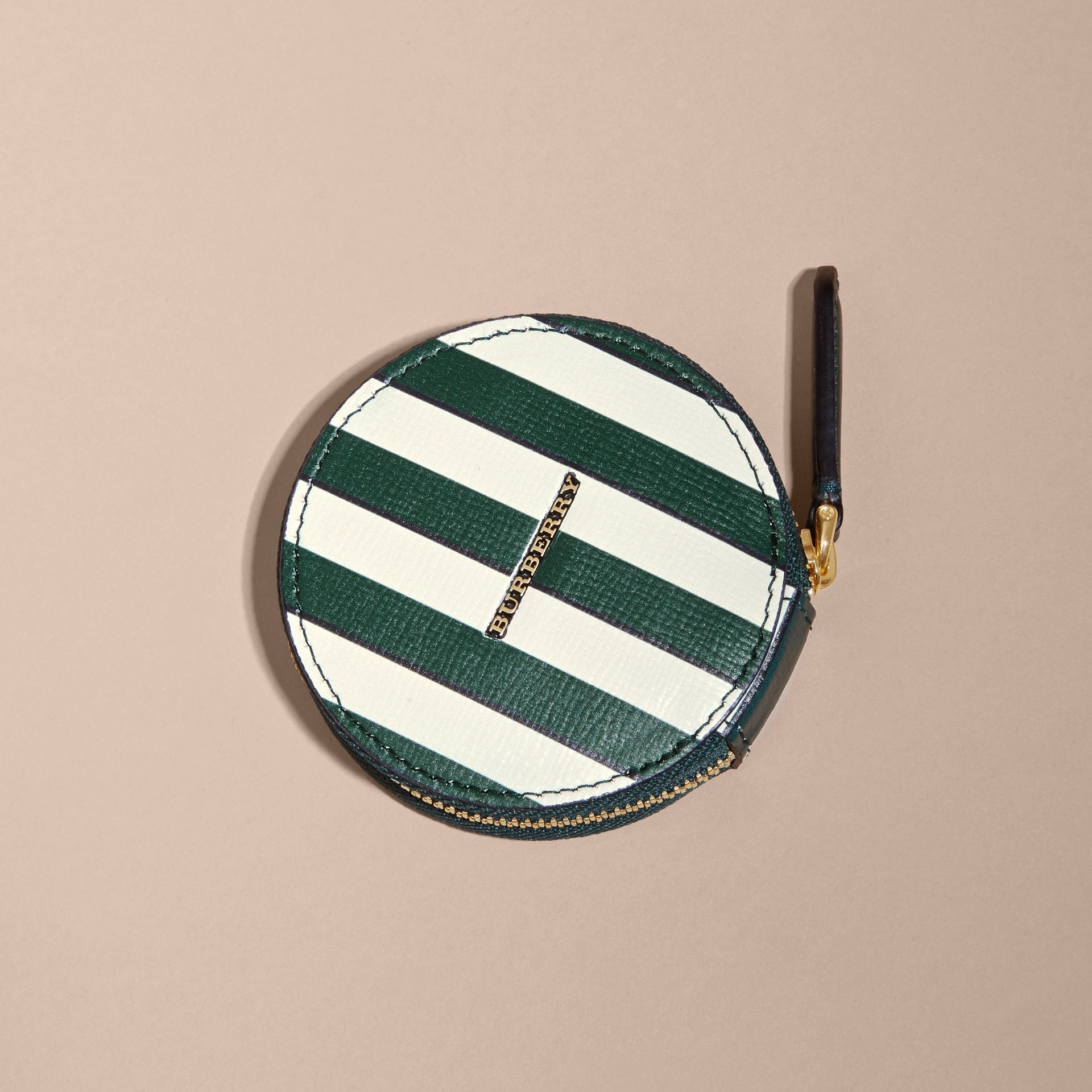 Pyjama Stripe London Leather Coin Case - gallery image 5