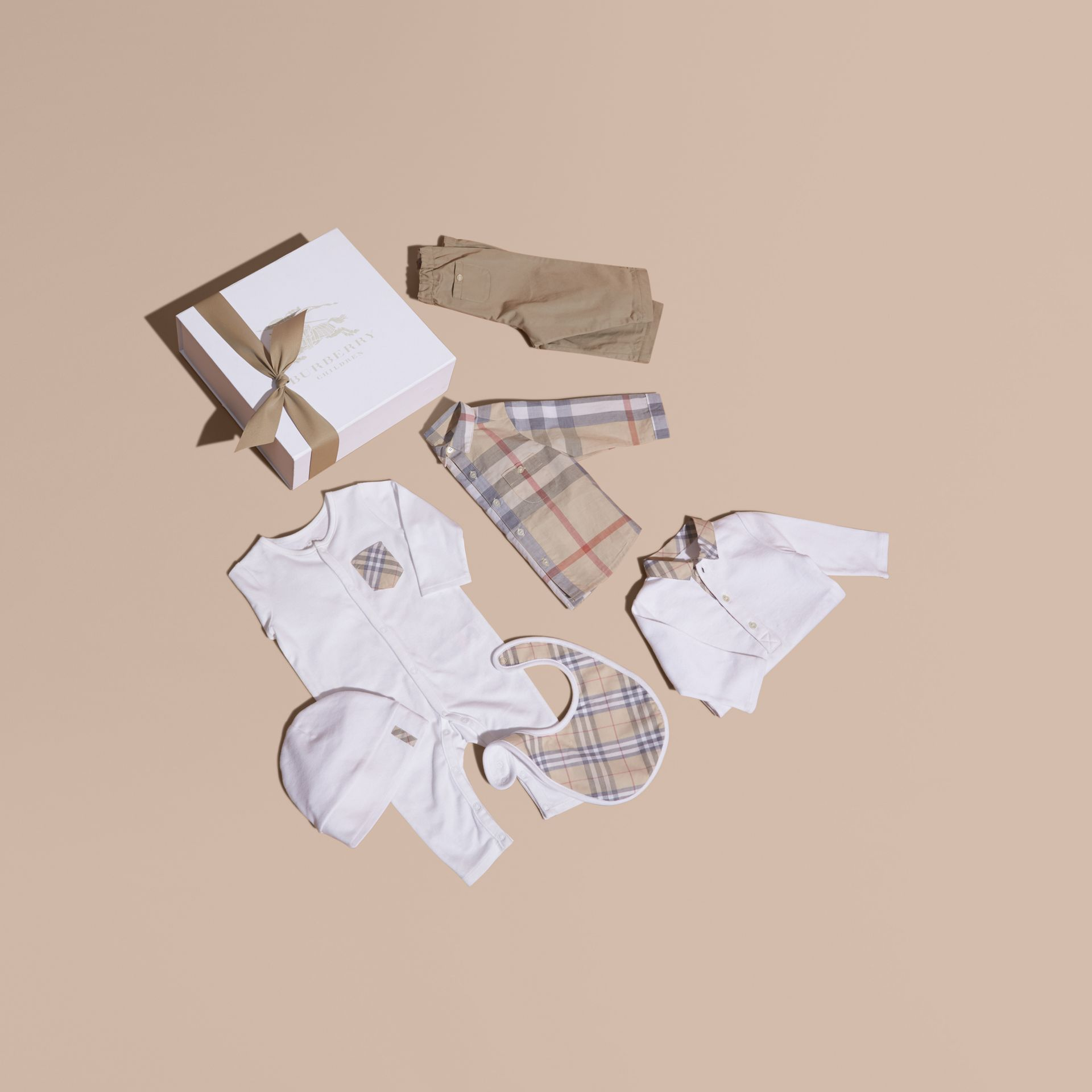 Cotton Six-piece Baby Gift Set - Children | Burberry - gallery image 1
