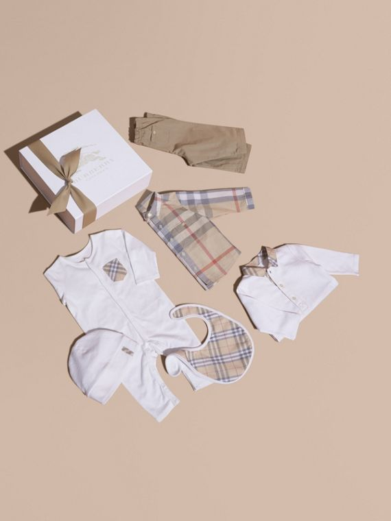 Cotton Six-piece Baby Gift Set - Children | Burberry