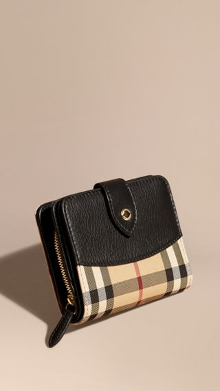 Horseferry Check and Leather Wallet