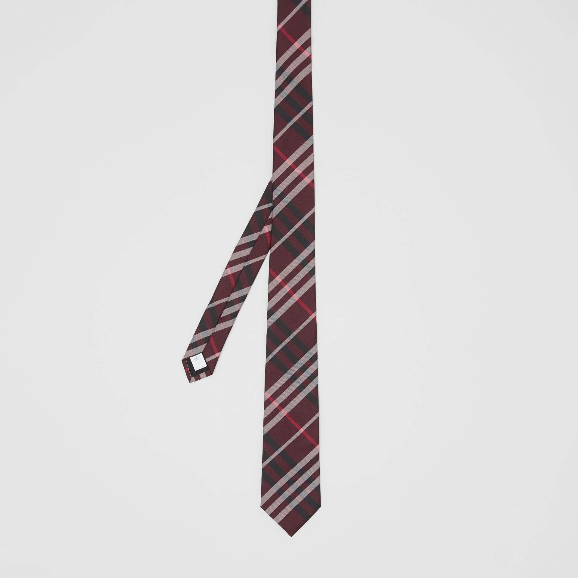 Classic Cut Vintage Check Silk Tie in Claret - Men | Burberry United Kingdom - gallery image 4