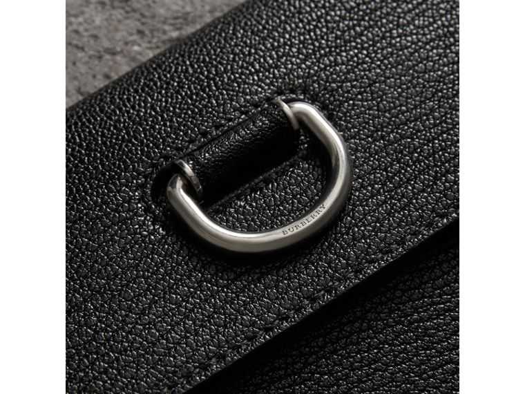 D-ring Leather Pouch with Zip Coin Case in Black/green - Women | Burberry Singapore - cell image 1