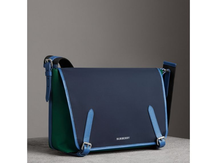 Large Tri-tone Nylon and Leather Messenger Bag in Black - Men | Burberry United Kingdom - cell image 4