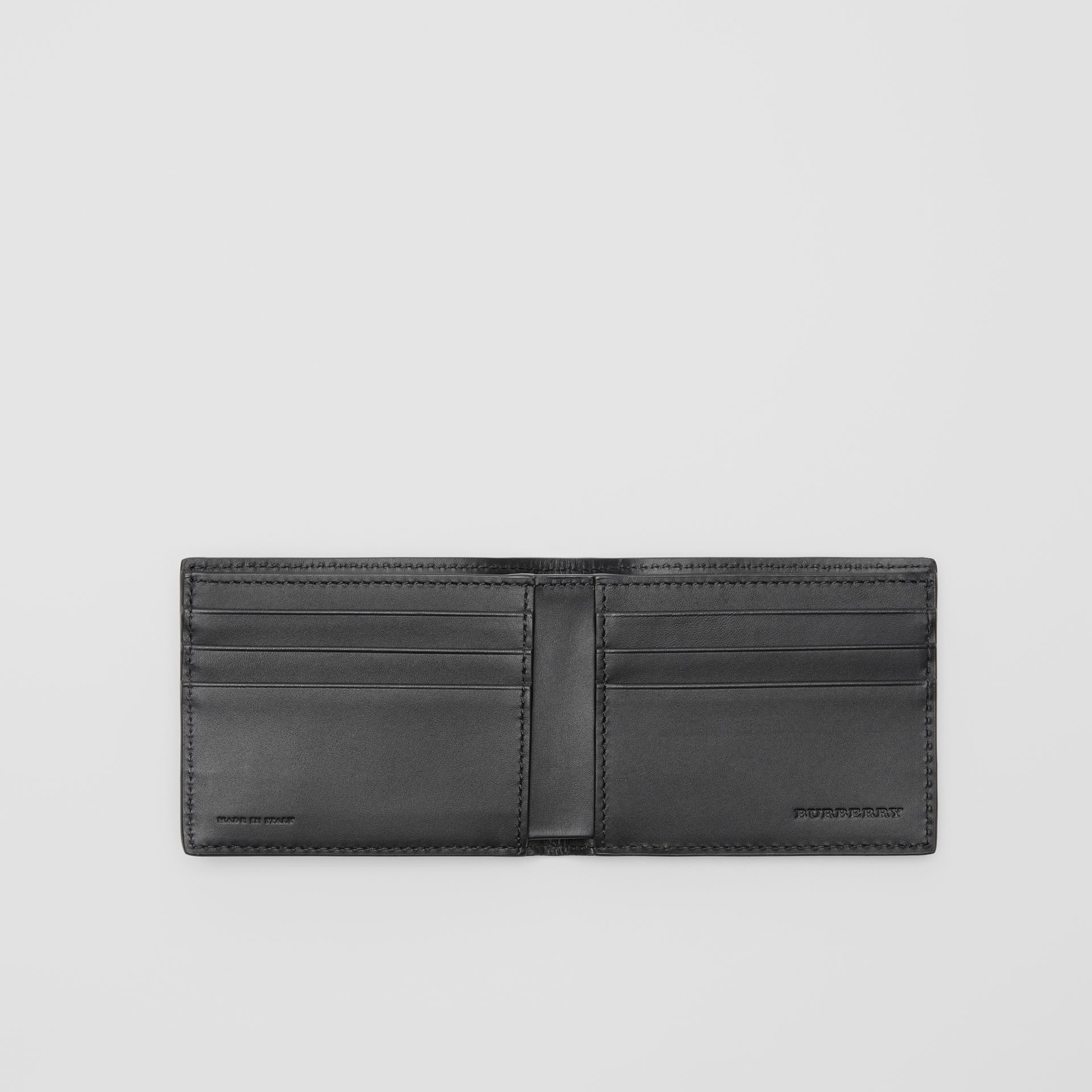 London Leather Bifold Wallet in Black - Men | Burberry Australia - gallery image 2