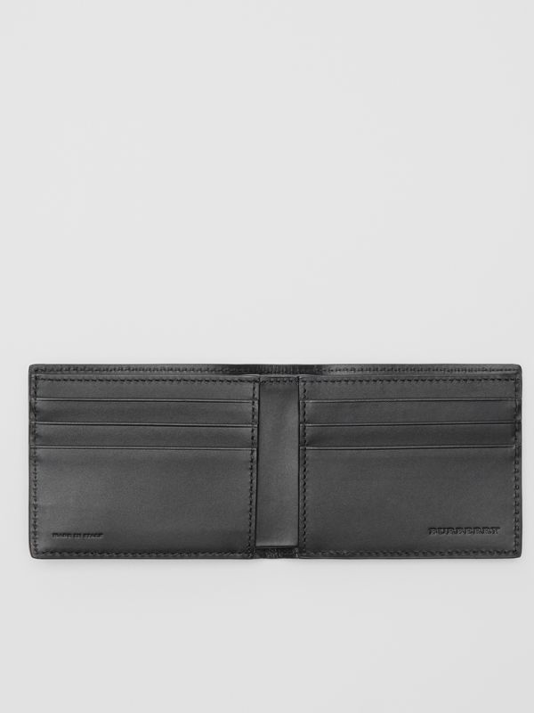 London Leather Bifold Wallet in Black - Men | Burberry Australia - cell image 2