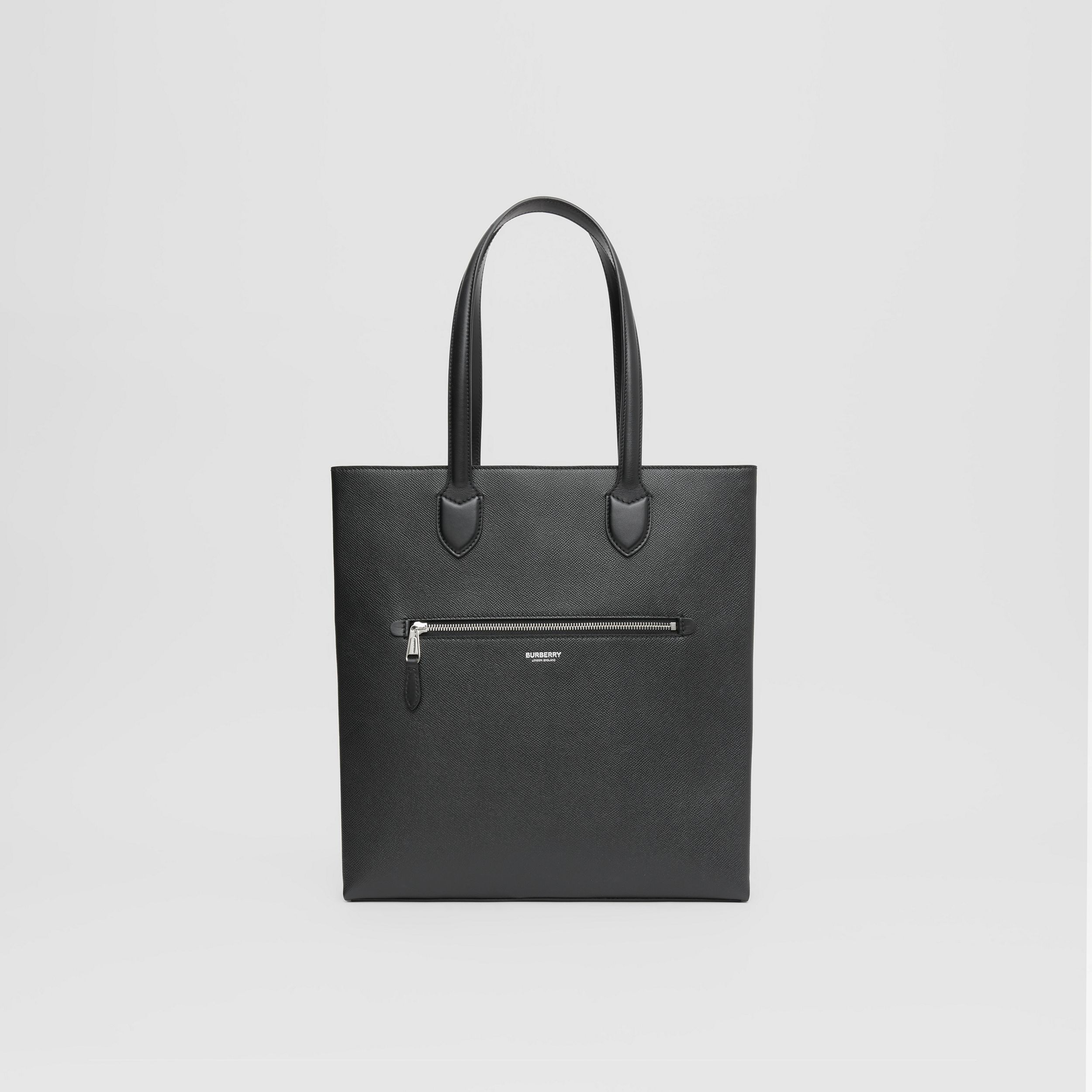 Medium Grainy Leather Tote in Black - Men | Burberry - 1