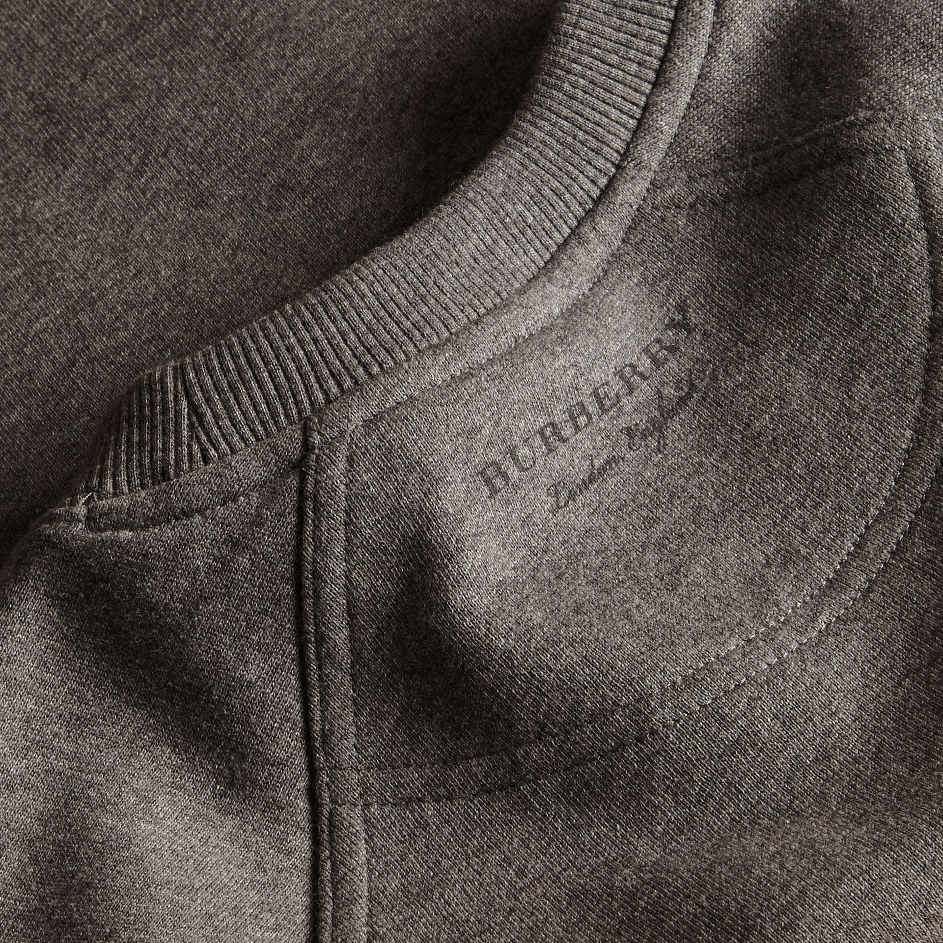 Mid grey melange Brushed-back Jersey Sweatshirt with Bell Sleeves Mid Grey Melange - gallery image 2