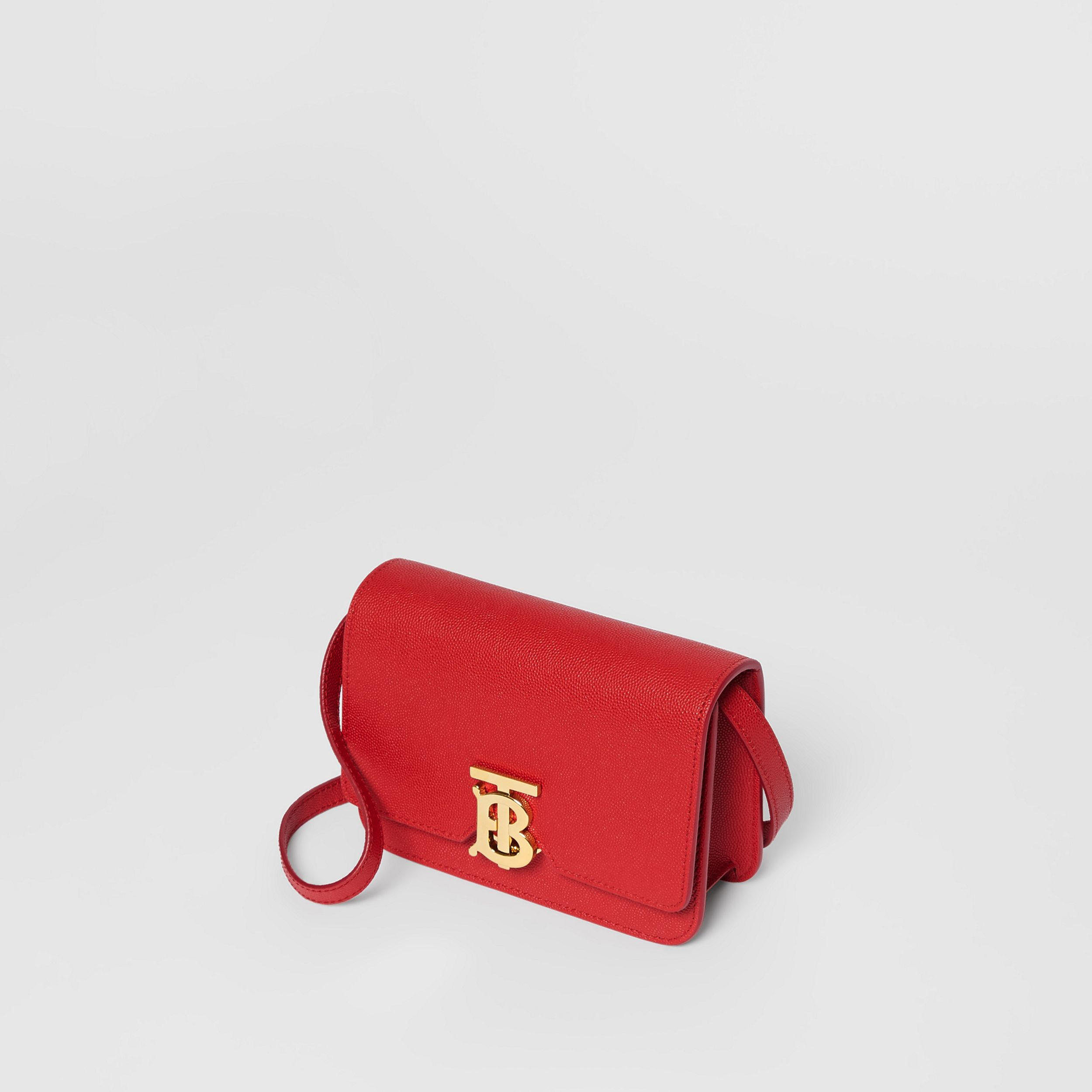Mini Grainy Leather TB Bag in Bright Red | Burberry - 4