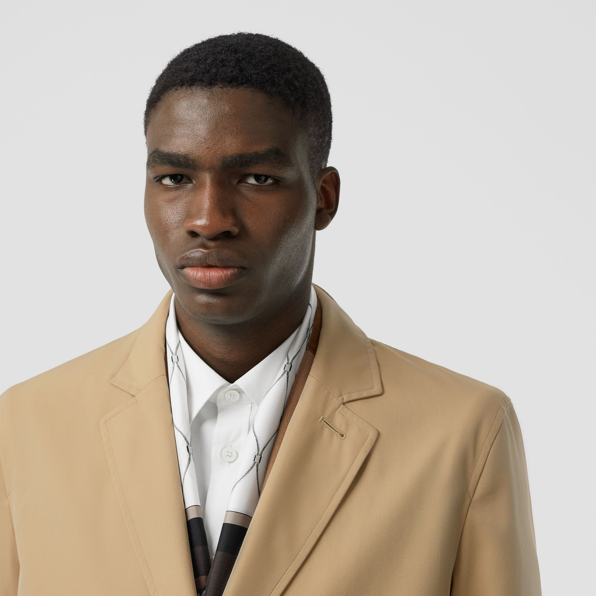Cotton Gabardine Lab Coat in Honey - Men | Burberry - gallery image 1