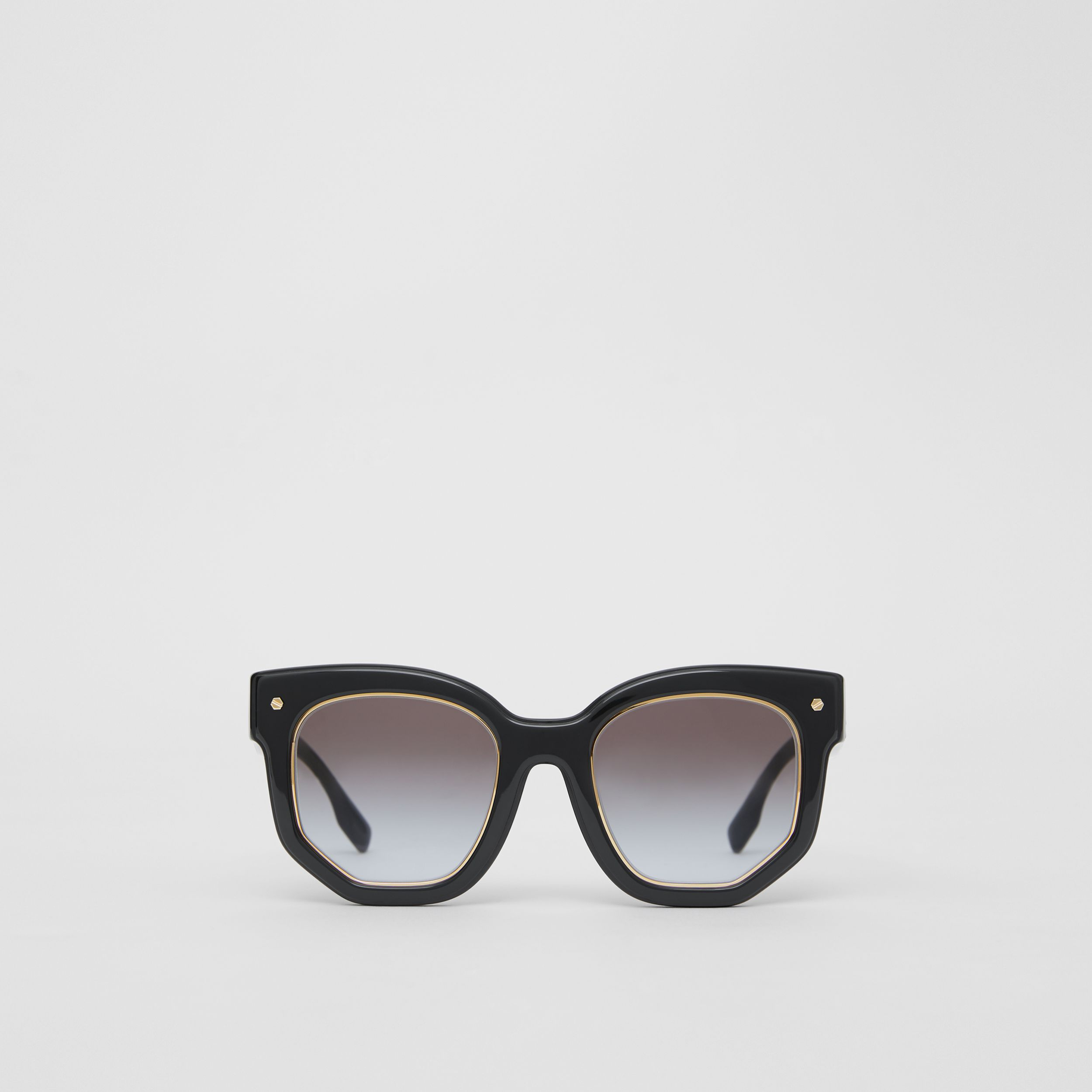 Geometric Frame Sunglasses in Black - Women | Burberry - 1