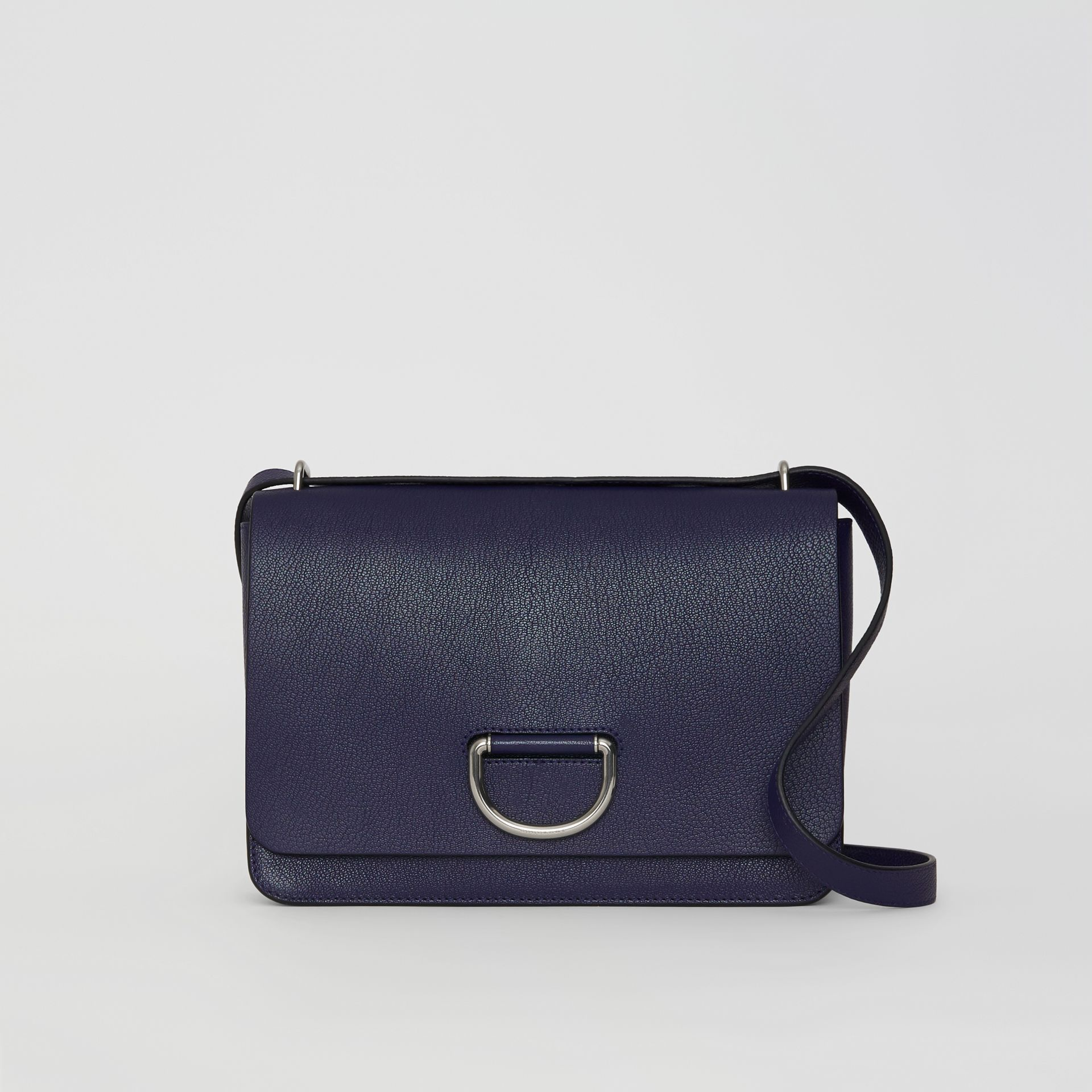 The Medium Leather D-ring Bag in Regency Blue - Women | Burberry United States - gallery image 0