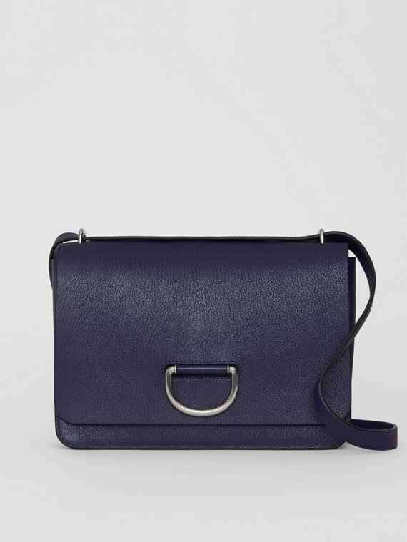 The Medium Leather D-ring Bag in Regency Blue