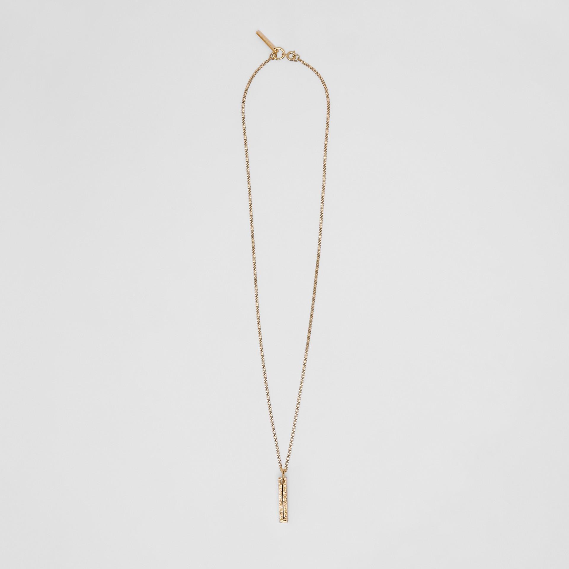 字母「I」吊飾鍍金項鍊 (淺金色) - 女款 | Burberry - 圖庫照片 0